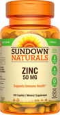Zinc High Potency 50 mg 100 Caplets, Rexall Sundown Naturals