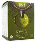 Organic Green Tea Matcha Super Green 15 Tea Bags 1.43 oz (40.5 g), Rishi Tea