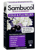 Black Elderberry Cold & Flu Relief 30 Quick Dissolve Tabs, Sambucol