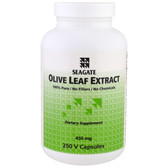 Olive Leaf Extract 450 mg 250 Veggie Caps, Seagate