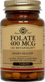 Folate (As Metafolin) 400 mcg 100 Tabs, Solgar