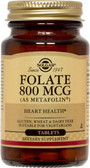 Folate As Metafolin 800 mcg 100 Tabs, Solgar