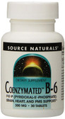 Coenzymated B-6 300 mg 30 Tabs, Source Naturals