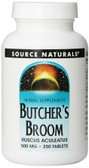 Butcher's Broom 500 mg 250 Tabs, Source Naturals