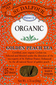 Organic Golden Peach Tea 25 Tea Bags 1.75 oz (50 g), St. Dalfour