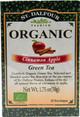 Green Tea Cinnamon Apple 25 Tea Bags .07 oz (2 g) Each, St. Dalfour