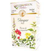 Ginger Root Tea Organic 24 Tea Bags Celebration Herbals