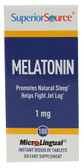 Melatonin 1 mg 100 MicroLingual Instant Dissolve Tabs, Superior Source