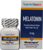 Melatonin 3 mg 60 Tabs, Superior Source