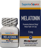 MicroLingual Melatonin 5 mg 60 Instant Dissolve Tabs, Superior Source