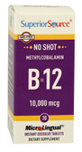 B-12 Methylcobalamin 10 000 mcg 30 MicroLingual Instant Dissolve Tabs, Superior Source