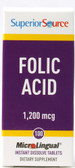 Folic Acid MicroLingual 1 200 mcg 100 Tabs, Superior Source