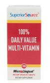 100% Daily Value Multi-Vitamin 100 MicroLingual Instant Dissolve Tabs, Superior Source