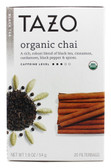Organic Chai Black Tea 20 Filterbags 1.9 oz (54 g), Tazo Teas