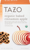 Organic Baked Cinnamon Apple Herbal Tea Caffeine-Free 20 Filterbags 1.76 oz (50 g), Tazo Teas