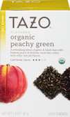 Organic Green Tea Peachy Green Flavored 20 Filterbags 1.4 oz (40 g), Tazo Teas