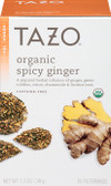 Organic Herbal Tea Spicy Ginger Caffeine-Free 20 Filterbags 1.3 oz (38 g), Tazo Teas