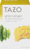 Green Ginger Green Tea 20 Filterbags 1.5 oz (44 g), Tazo Teas