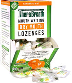 Mouth Wetting Fresh Breath Lozenges Mandarin Mint 100 Wrapped Lozenges 165 g, TheraBreath