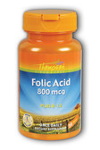 Folic Acid Plus B-12 800 mcg 30 Tabs, Thompson