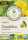 Organic Dandelion Leaf & Root 16 Tea BagsTraditional Medicinals