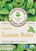 Herbal Teas Organic Lemon Balm 16 Tea Bags Traditional Medicinals, Indigestion, Tension