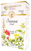 Senna Leaf Tea Organic 24 Tea Bags Celebration Herbals