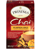 Chai Pumpkin Spice 20 Tea Bags 1.41 oz (40 g), Twinings