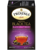 Premium Black Tea Blackcurrant Breeze 20 Tea Bags 1.41 oz (40 g), Twinings