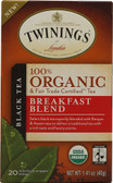 100% Organic Black Tea Breakfast Blend 20 Tea Bags 1.41 oz Twinings