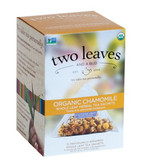 Organic Chamomile Herbal Tea Caffeine Free 15 Sachets 0.79 oz (22.5 g), Two Leaves and a Bud