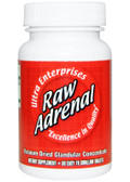 Raw Adrenal 60 Easy-To-Swallow Tabs, Ultra Glandular Enterprises