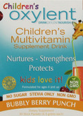 Children's Oxylent Multivitamin Supplement Drink Bubbly Berry Punch 30 Stick Packets 4.5 g Each, Vitalah