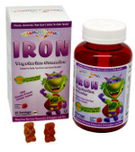 IronBear Gummies Strawberry 15 mg 60 Pectin Bears, Vitamin Friends
