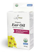 Organic Ear Oil with Garlic and Mullein 1 oz, Wally's Natural Products