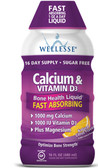 Calcium & Vitamin D3 Sugar Free Natural Citrus Flavor 16 oz (480 ml), Wellesse Premium Liquid Supplements