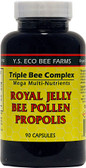 Royal Jelly Bee Pollen Propolis 90 Caps, Y.S. Eco Bee Farms