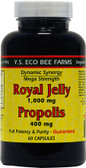 Royal Jelly Propolis 1 000 mg/400 mg 60 Caps, Y.S. Eco Bee Farms