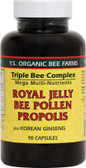 Royal Jelly Bee Pollen Propolis Plus Korean Ginseng 90 Caps Y.S. Eco Bee Farms
