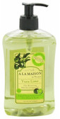 Hand & Body Liquid Soap Yuzu Lime 16.9 oz (500 ml), A La Maison de Provence