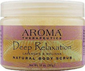 Natural Body Scrub Deep Relaxation Lavender and Melissa 10 oz (283 g), Abra Therapeutics