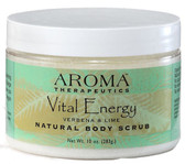 Natural Body Scrub Vital Energy Verbena & Lime 10 oz (283 g), Abra Therapeutics