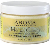 Natural Body Scrub Mental Clarity Rosemary & Lemongrass 10 oz (283 g), Abra Therapeutics