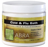 Cold and Flu Bath Camphor & Menthol 17 oz (482 g), Abra Therapeutics