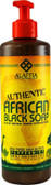 Authentic African Black Soap Peppermint 16 oz (475 ml), Alaffia