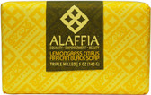 Triple Milled African Black Soap Lemongrass Citrus 5 oz (142 g), Alaffia