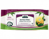Bamboo Baby Wipes Scented 80 Wipes, Aleva Naturals