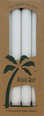 Palm Wax Taper Candles Unscented White 4 Pack 9 in (23 cm) Each, Aloha Bay