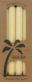 Palm Wax Taper Candles Unscented Cream 4 Pack 9 in (23 cm) Each, Aloha Bay
