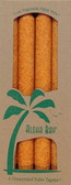 Palm Wax Taper Candles Unscented Orange 4 Pack 9 in (23 cm) Each, Aloha Bay
